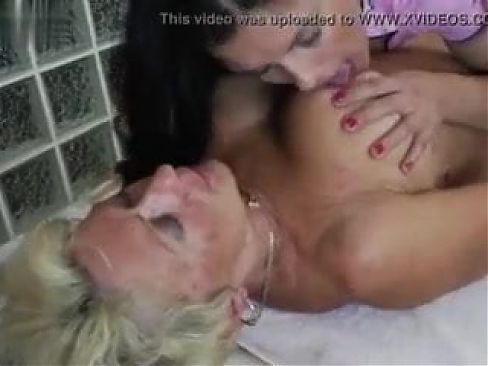 Old 67yo and young 19yo lesbian massage